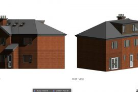 Double-story Side Extension, Erection of front porch & Addition of dormer window.